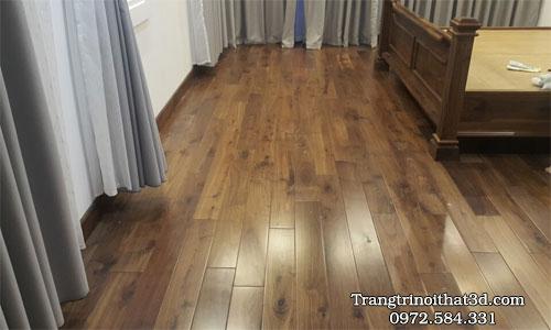 ván lát sàn gỗ tự nhiên cho phòng ngủ chung cư