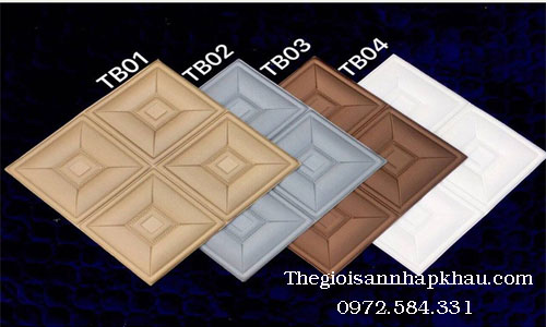 Bảng màu xốp dán tường 3d giả da ô vuông