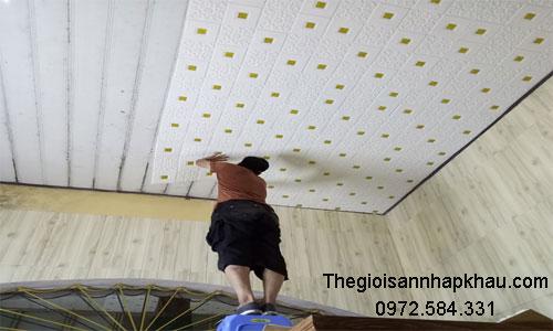 Địa chỉ thi công xốp dán tường 3d giá rẻ
